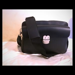 Bally unisex Leather Commuter Bag with strap